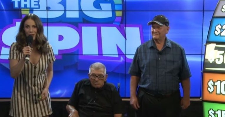 John Paul Marentette of Windsor won The Big Spin Instant game. (Photo from video courtesy of Ontario Lottery and Gaming Corporation)