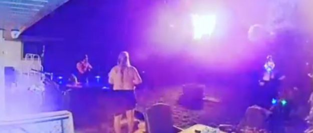 Screenshot from video posted to Facebook by Kandice Trickett.