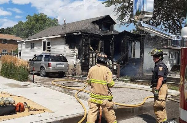 Fire on Campbell Street. August 9, 2019 Photo courtesy of Sarnia police.