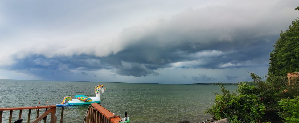 Storm clouds are seen off Pelee Island on August 6, 2019. Photo submitted by Kyle Mills.