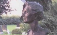 """A large bronze bust was stolen from a gravestone at the Craford Cemetary, for a woman named """"Marian.""""Photo Submitted by Chatham-Kent Police Services)"""