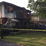 Damages from a fire at 204 Millbank Dr., September 10, 2019. (Photo by Scott Kitching, Blackburn News.)