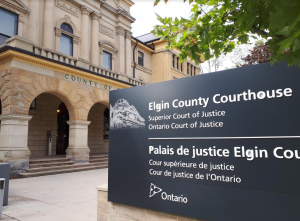 Elgin County Courthouse in St. Thomas. September 9, 2019. (BlackburnNews photo by Colin Gowdy)