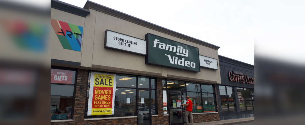 Family Video on London Road in Sarnia. September 2019. (BlackburnNews photo by Colin Gowdy)