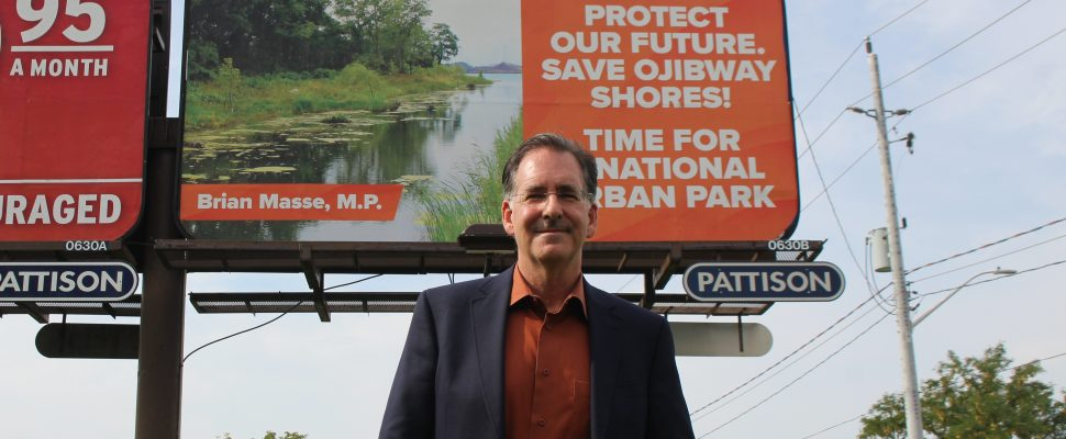 Windsor-West MP Brian Masse urges Ojibway Shores protection, September 10, 2019. Photo by Maureen Revait