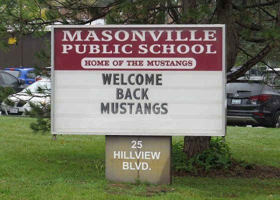 Masonville Public School at 25 Hillview Blvd. (File photo by Miranda Chant, Blackburn News.)