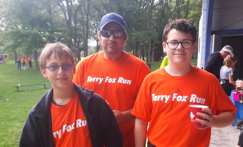 Participants in Sarnia's 2019 Terry Fox Run. Submitted photo.