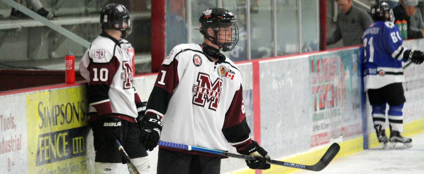Chatham Maroons forward Blake Bourdeau (centre). (Photo by Matt Weverink)