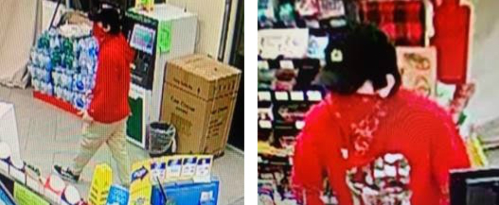 Chatham-Kent police are looking for this man in connection with an alleged robbery in the early morning hours of September 16, 2019. (Photo courtesy of Chatham-Kent police)