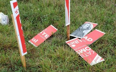 BlackburnNews.com - Liberal candidate's signs destroyed in Leamington