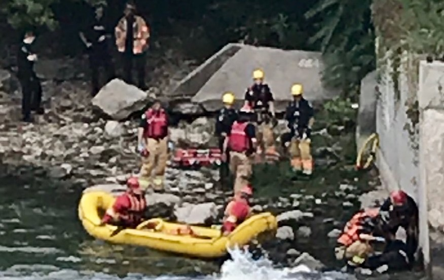 Technical rescue and water rescue on Thames River. September 15, 2019. (Photo courtesy of London Fire Department via Twitter)