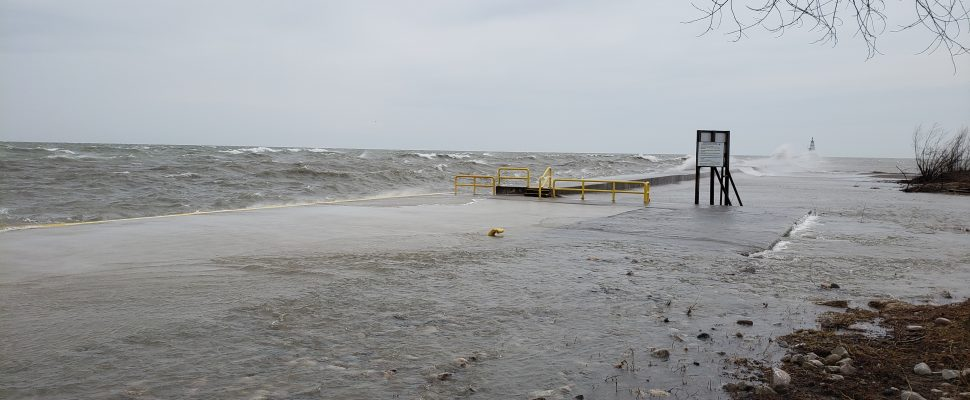 Lake Erie shoreline. (Photo courtesy of the Lower Thames Valley Conservation Authority)