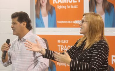 Unifor president stumps for local candidate