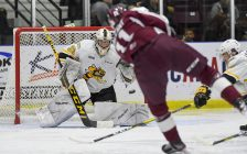 Ethan Langevin vs the Petes Oct. 11, 2019 (Photo courtesy of Metcalfe Photography)