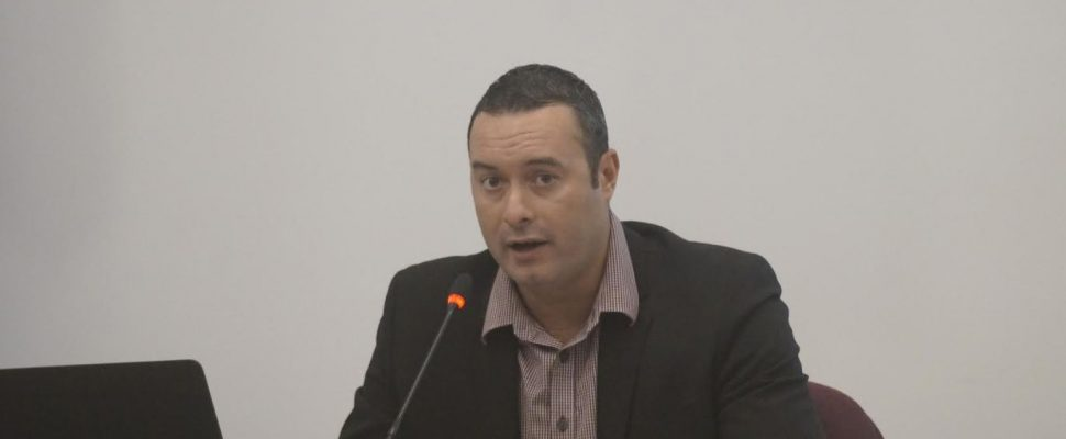 Tourism Sarnia-Lambton Executive Director Mark Perrin updates Lambton County Council on plans for a Municipal Transient Accommodation Tax. October 2, 2019 Photo by Melanie Irwin