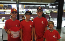 United Way volunteers at the Sarnia Sting game. August 2018. (Photo by United Way of Sarnia-Lambton)