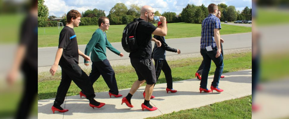 Walk a Mile in Her Shoes event in Chatham on October 8, 2019 (Photo by Allanah Wills)