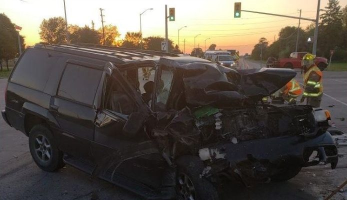(Photo of crash on September 25 at Walker Road and Hwy. 3 courtesy of the Ontario Provincial Police)