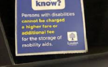 London cabs are now required to display this sticker. Photo courtesy of the City of London.