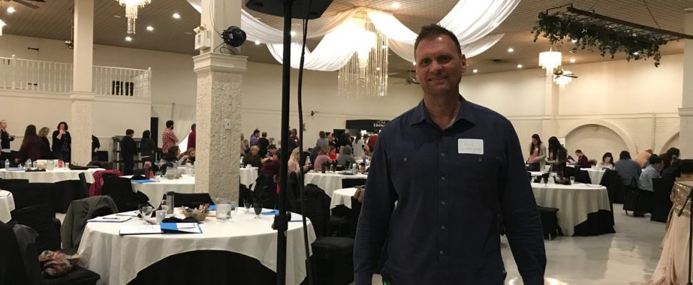 Sex therapist Paul Lavergne talks about the escalation of sex addiction and its destructive wake at this year's Chatham-Kent Addictions Awareness Conference. Nov 28, 2019. (Photo by Paul Pedro)