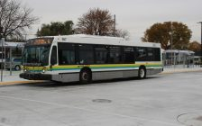Transit Windsor bus at the west end bus terminal, November 6, 2019. (Photo by Maureen Revait)