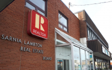 Sarnia-Lambton Real Estate Board office of Exmouth Street. November 7, 2019. (BlackburnNews.com photo by Colin Gowdy)