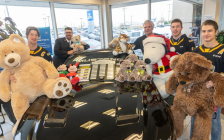 2019 Teddy Bear Toss Launch at Lambton Ford. November 5, 2019. (Photo by Sarnia Sting)