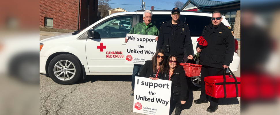 Canadian Red Cross and Sarnia Fire Rescue taking part in March for Meals. March 19, 2019. (Photo by Sarnia Fire Rescue)