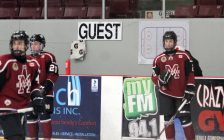 Chatham Maroons players warm up ahead of a game against the St. Thomas Stars. November 2019. (Photo by Matt Weverink)