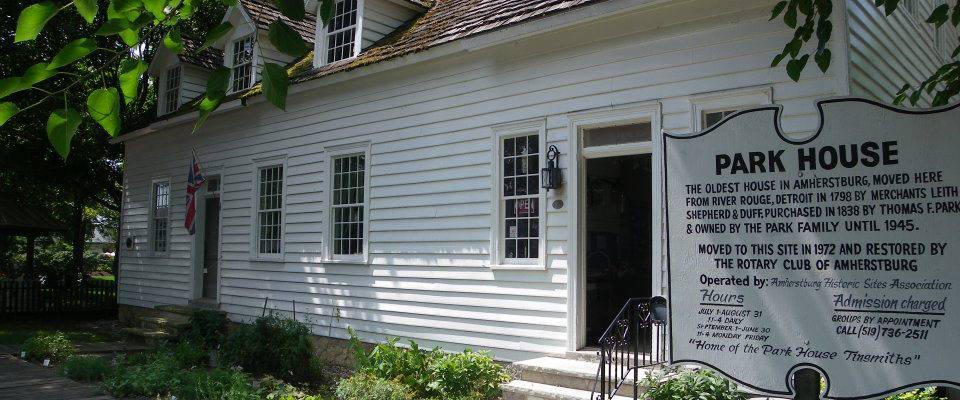 The Park House Museum, Amherstburg. Photo provided by Park House Museum official website.