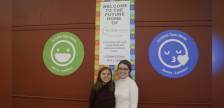 Youth Advisory Council members Maura Cook and Janessa Labadie at the ACCESS Open Minds Sarnia-Lambton site unveiling. December 6, 2019. (BlackburnNews.com photo by Colin Gowdy)