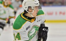 Luke Evangelista of the London Knights. (Photo courtesy of Terry Wilson via OHL Iimages)