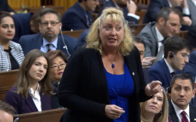 Sarnia-Lambton MP Marilyn Gladu speaks during Question Period at the House of Commons. December 11, 2019. (Screenshot from video of Question Period)