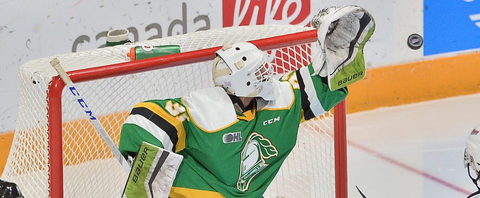 Dylan Myskiw of the London Knights. (Photo courtesy of Terry Wilson via OHL Images)
