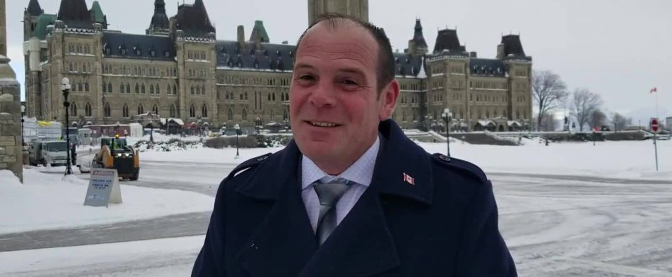 Essex MP Chris Lewis on Parliament Hill in Ottawa in this undated photo. Photo from Chris Lewis MP/Facebook.