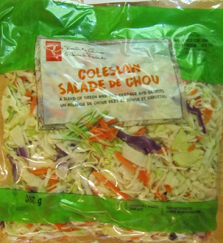 President's Choice coleslaw. Photo courtesy of the Canadian Food Inspection Agency.
