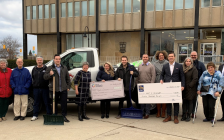 Sarnia Community Foundation and RBC Foundation present Adopt-A-Driveway with a grant for $15,000 outside Sarnia City Hall. January 17, 2020. (Photo by SCF)