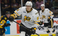 Forward Anthony Tabak with the Sarnia Sting. (Photo provided by the Sarnia Sting)