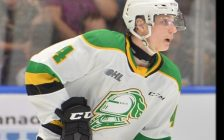Avery Winslow of the London Knights. He was traded to the North Bay Battalion on January 10, 2020. Photo courtesy London Knights official website
