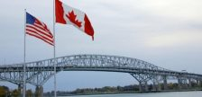 Blue Water Bridge from Point Edward. (Photo by Ontario's Blue Coast)