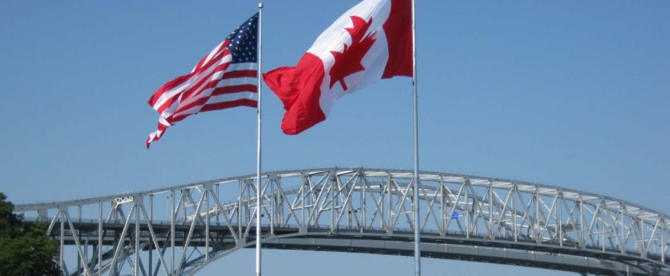 Blue Water Bridge from Point Edward. October 28, 2011. (Photo by Lambton County Trails)