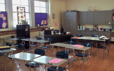 An empty classroom in a school. July 2, 2019. (Photo by tmccombs from Pxhere)