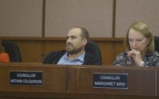 Sarnia city councillors Nathan Colquhoun and Margaret Bird. Blackburn News Sarnia file photo.