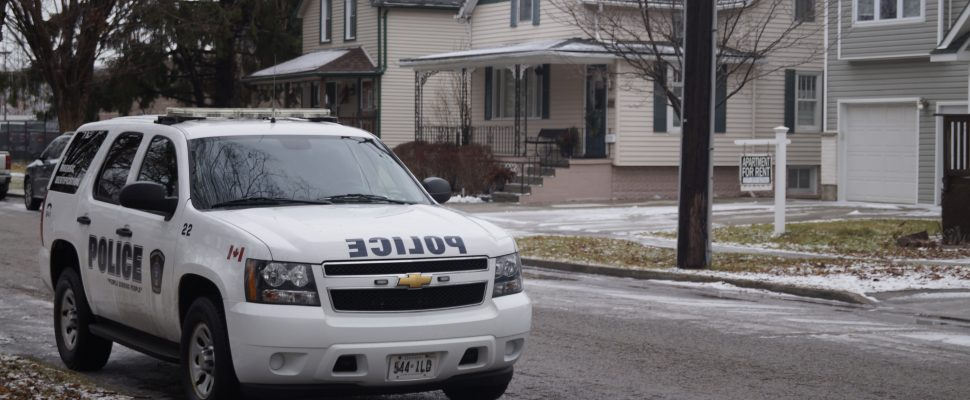 A Sarnia police cruiser from the service's Forensic Identification Branch on Water Street. January 13, 2020. (BlackburnNews.com photo by Colin Gowdy)