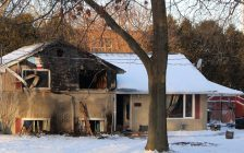 A home on Vroom Avenue in Sarnia following a fire. 20 January 2020. (Submitted photo)