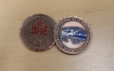 "The ""All in Coin"" given to first responders to help start the conversation mental wellness. (photo by Maureen Revait)"