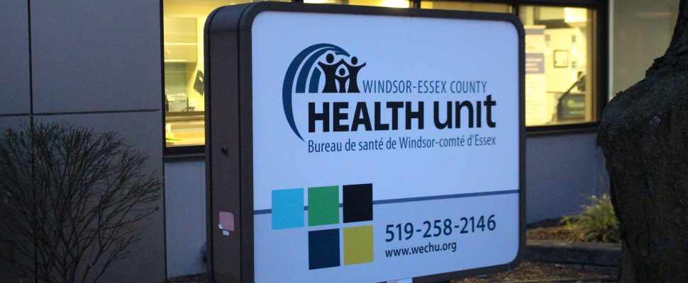 Windsor-Essex County Health Unit, Windsor, January 16, 2020. Blackburn News file photo.