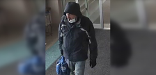 A person of interest in a Sarnia police investigation of purse thefts. (Photo provided by SPC)