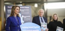 Minister of Transportation, Caroline Mulroney announces the provinces new transportation plan: Connecting the Southwest at a media conference in London. Photo courtesy of Ontario News.