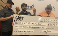 Sons of Kent makes donation to the Children's Treatment Centre of Chatham-Kent. (Photo courtesy of Lisa Caron)